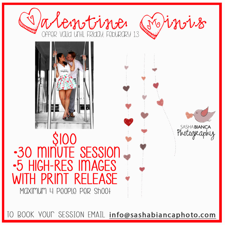 Valentine's Day Mini Specials $100