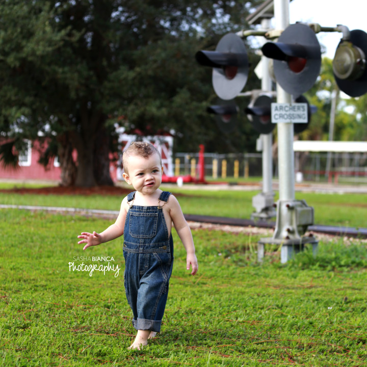Baby Train Track Shoot
