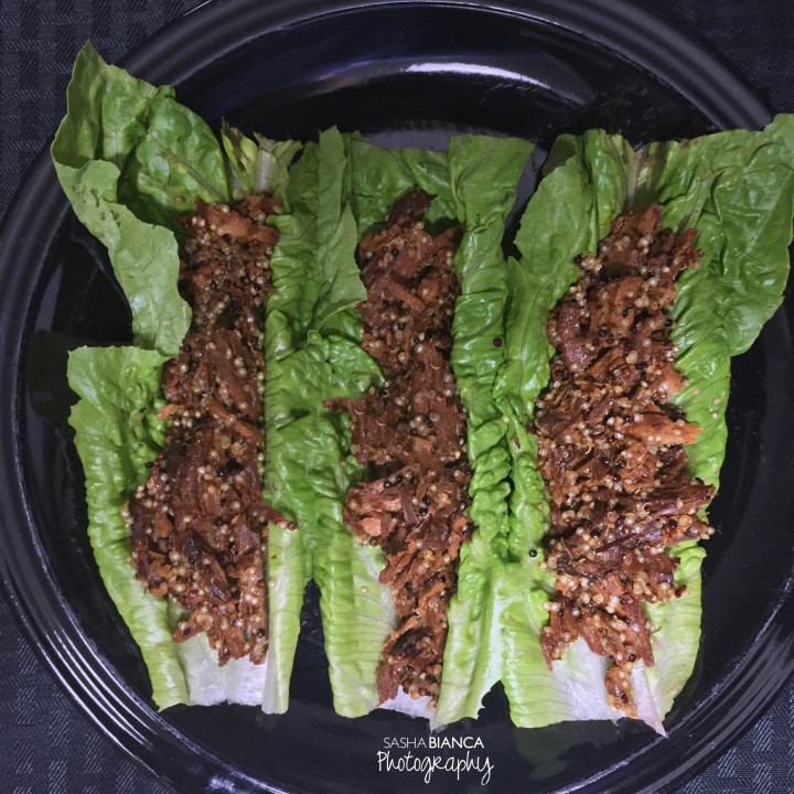 Teriyaki Pulled Pork Lettuce Wraps