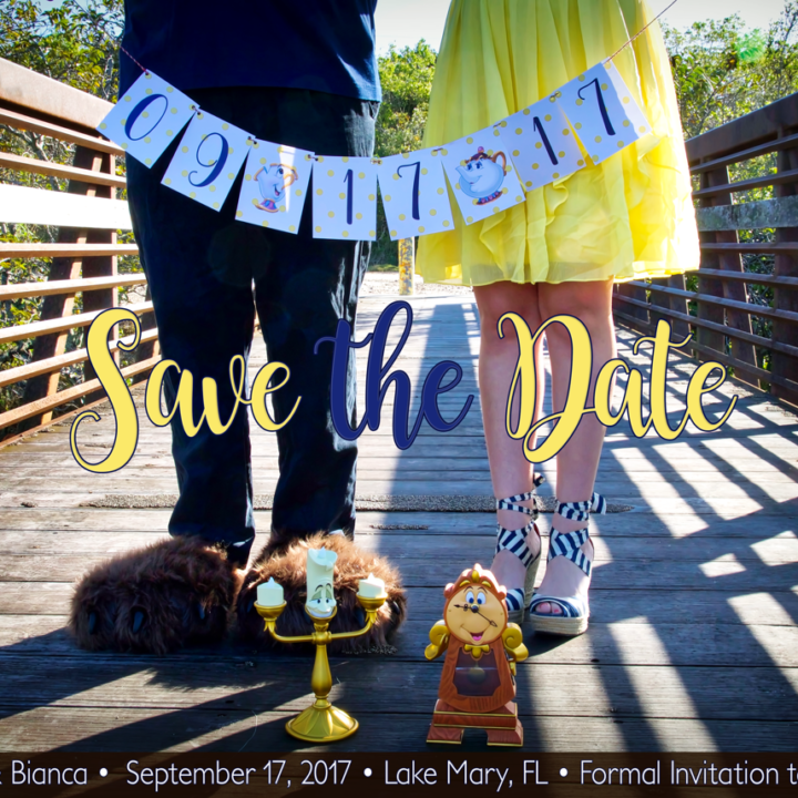 Beauty and the Beast Wedding Save the Date